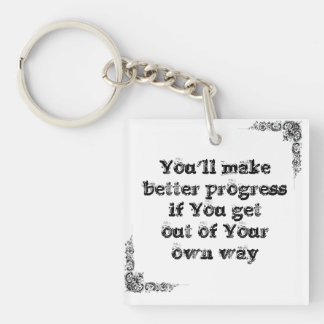 Cool great simple wisdom philosophy tao sentence keychain