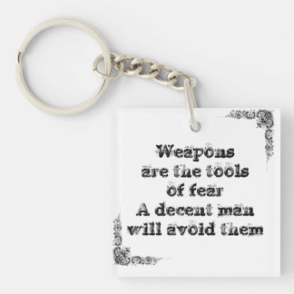 Cool great simple wisdom philosophy tao sentence keychain