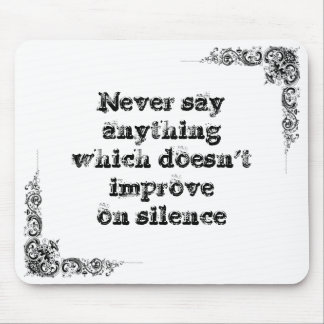 Cool great simple wisdom philosophy tao sentence mouse pad