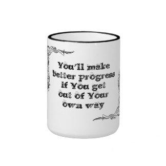 Cool great simple wisdom philosophy tao sentence ringer coffee mug