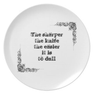 Cool great simple wisdom philosophy tao sentence plate