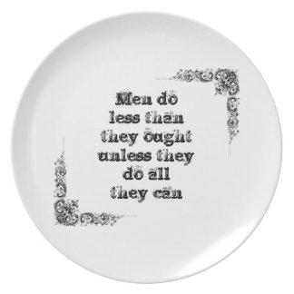 Cool great simple wisdom philosophy tao sentence plate