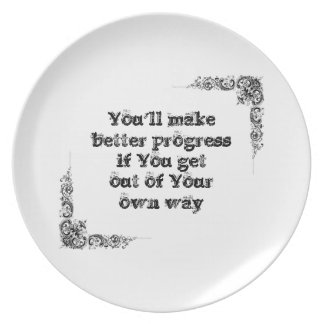 Cool great simple wisdom philosophy tao sentence party plates