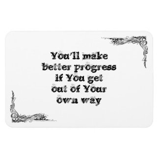 Cool great simple wisdom philosophy tao sentence rectangular photo magnet