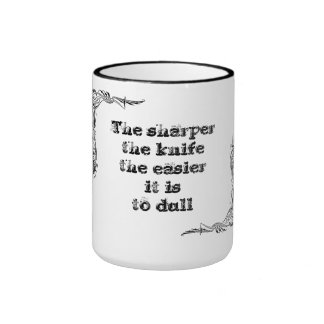 Cool great simple wisdom philosophy tao sentence ringer mug