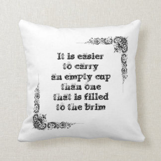 Cool great simple wisdom philosophy tao sentence throw pillow
