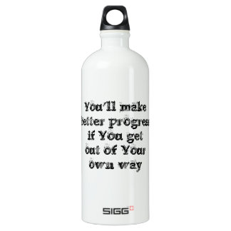 Cool great simple wisdom philosophy tao sentence water bottle