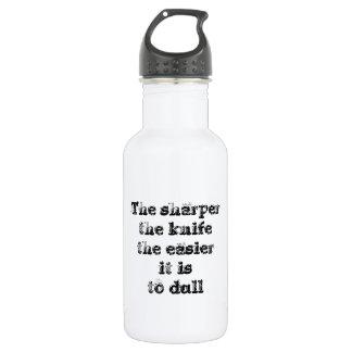 Cool great simple wisdom philosophy tao sentence water bottle