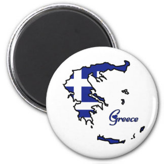 Cool Greece 2 Inch Round Magnet
