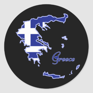 Cool Greece Classic Round Sticker