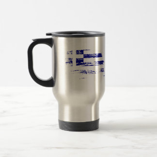 Cool Greek flag design Travel Mug