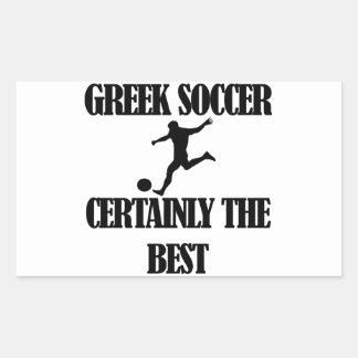 cool Greek  soccer designs Rectangular Sticker
