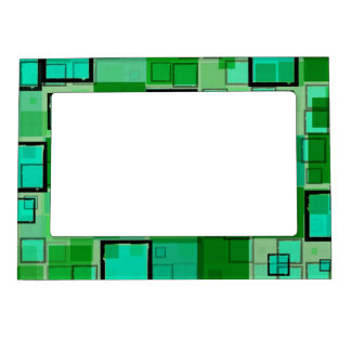 Cool Green Abstract Magnetic Frame Picture Frame Magnet