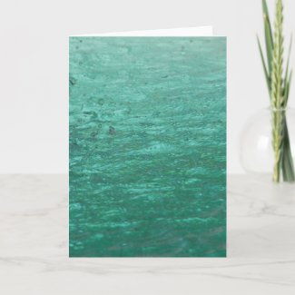 Cool Green Abstract Water card