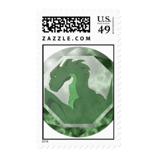 Cool Green And Green Dragon Gem Stamps