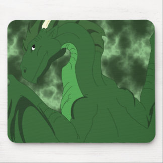 Cool Green And Green Dragon Mouse Pad