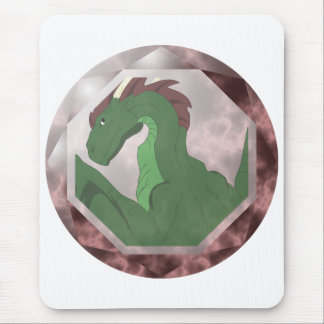 Cool Green And Red Dragon Gem Mouse Pad