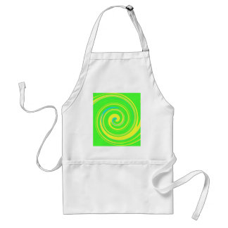 Cool Green and Yellow Abstract Adult Apron