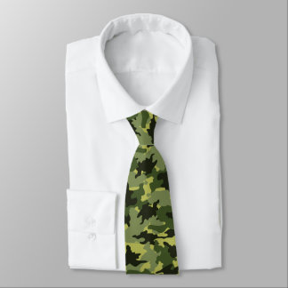 Cool Green Camo Military Camouflage Mens Neck Tie