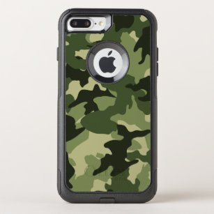 online retailer 0e1f2 15fa3 Cool Green Camo Military Camouflage Pattern Robust OtterBox Commuter iPhone  8 Plus/7 Plus Case