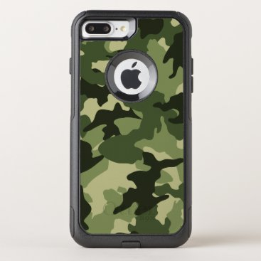 Cool Green Camo Military Camouflage Pattern Robust OtterBox Commuter iPhone 8 Plus/7 Plus Case