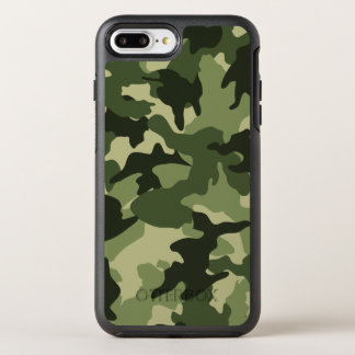 Cool Green Camo Military Camouflage Pattern Robust OtterBox Symmetry iPhone 7 Plus Case