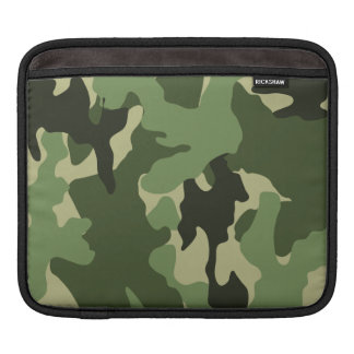 Cool Green Camo Pattern Military iPad Sleeves