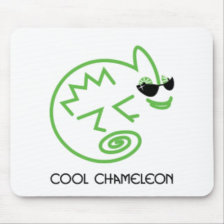 Cool Green Chameleon Mouse Pad