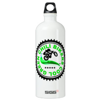 Cool Green Chili Bikers Aluminum Water Bottle
