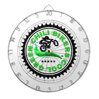 Cool Green Chili Bikers Dart Boards