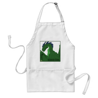 Cool Green Dragon Blue Hair Wicked Cool Adult Apron