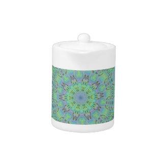 Cool Green Floral pattern Teapot