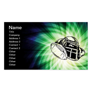 Cool Green Football Player Double-Sided Standard Business Cards (Pack Of 100)