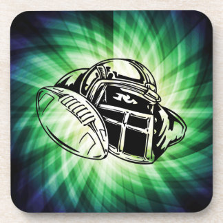 Cool Green Football Player Drink Coaster