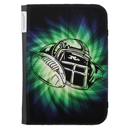 Cool Green Football Player Kindle Keyboard Case