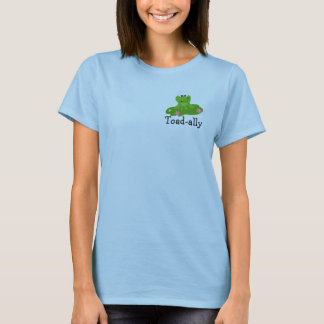 Cool Green Frog with Saying T-Shirt