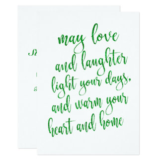 Cool Green Glitter St Patrick's Day Party Card