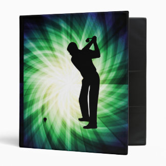 Cool Green Golf 3 Ring Binder