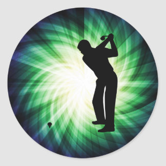Cool Green Golf Classic Round Sticker
