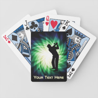 Cool Green Golf Bicycle Poker Deck