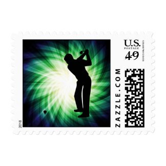 Cool Green Golf Stamp