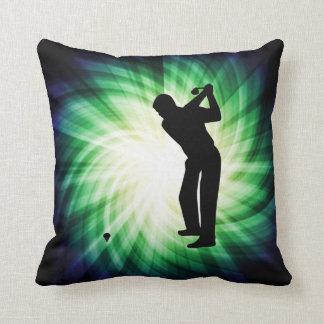 Cool Green Golf Throw Pillow