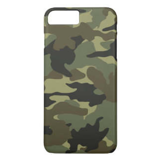 Cool Green Khaki Camo Camouflage Pattern Slim iPhone 7 Plus Case