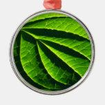 Cool green leaf christmas tree ornament