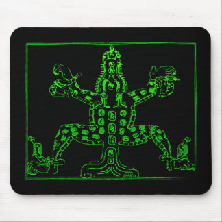 Cool Green Mayan Animal Mouse Mats