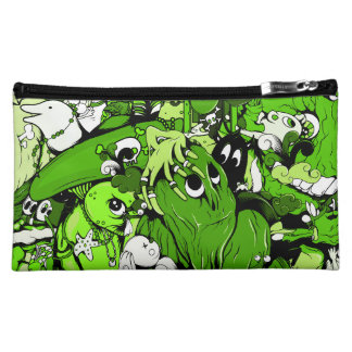 Cool Green Monsters and Zombies Cosmetic Bags