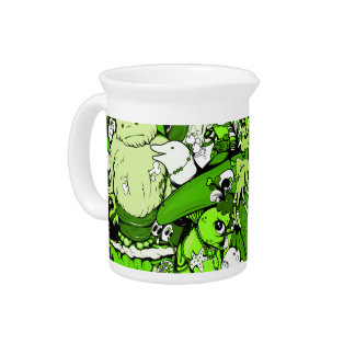 Cool Green Monsters and Zombies Pitchers