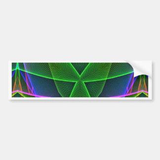 Cool Green Pink Purple Neon Abstract Design Bumper Sticker