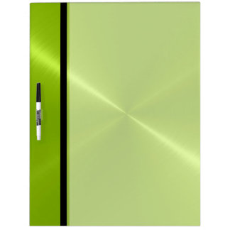Cool Green Shiny Stainless Steel Metal Dry-Erase Board