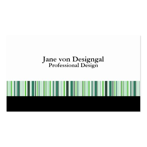Cool Green Stripes Double-Sided Standard Business Cards (Pack Of 100)